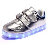 baratos Sapatos de Menino-Para Meninos Para Meninas Sapatos Couro Envernizado Inverno Primavera Verão Outono Conforto Inovador Tênis Sem Salto Franzido para