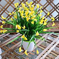 levne Umělé květiny-Vysoce kvalitní kala květiny hedvábí květina hedvábí květina umělé květiny pro domácí dekoraci 1ks / set