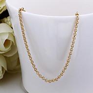 Dámské Tvar Řetízky 18K zlato Řetízky Kostýmní šperky