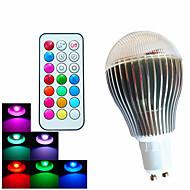 GU10 LED-globepærer A60(A19) 3 leds Høyeffekts-LED Mulighet for demping Fjernstyrt Dekorativ RGB 500lm RGBK AC 100-240V