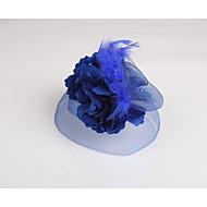 お買い得  フラワーガール用アクセサリー-羽毛 ファブリック ネット - 魅力的な人 1 結婚式 パーティー カジュアル かぶと