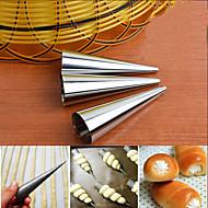 billige -rustfritt stål krem horn tilfeller former bakverk dessert baking molds sett med 3