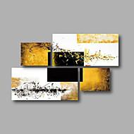 baratos -Pintados à mão AbstratoModerno 4 Painéis Tela Pintura a Óleo For Decoração para casa