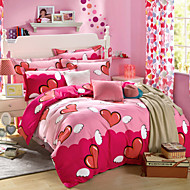 100% Cotton Bedclothes 4pcs Bedding Set Queen Size Duvet Cover Set