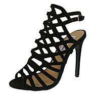 baratos Sandálias Femininas-Mulheres Sapatos Courino Verão Chanel Tira no Tornozelo Salto Agulha Presilha para Casual Social Festas & Noite Prata Vermelho Azul