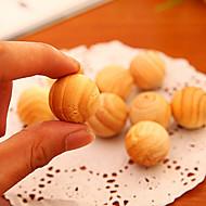 billige Lagring og oppbevaring-5 stk røkelse pellets duftende duftende naturlig sedertre tre møll ball