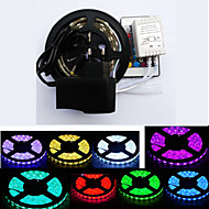 cheap LED Strip Lights-RGB Strip Lights 300 LEDs RGB Remote Control / RC Cuttable Waterproof Color-Changing Self-adhesive Suitable for Vehicles Linkable DC 12V