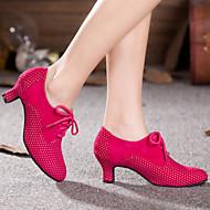 billige Moderne sko-Dame Moderne sko Glimtende Glitter / Syntetisk / Fløyel Høye hæler / Joggesko Gummi / Drapert / Bølgemønster Kubansk hæl Kan ikke