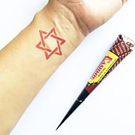 halloween természetes növényi Kasmír henna kúp ideiglenes tetoválás kit mehndi Kaveri (piros)