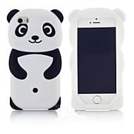 nye mest populære søde 3d panda silikone tilbage softphone tilfælde beskyttelsesdæksel hud til Apple iPod Touch 6/5