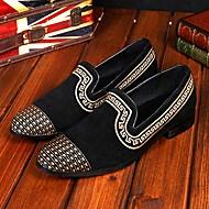 Pantofi barbati Nuntă / Party & Seară Piele de Căprioară Mocasini Negru