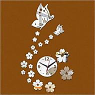 Rund Moderne / Nutidig / Avslappet / Kontor / Bedrift Wall Clock,Blomst / Botanikk / Dyr Plastikk 40*60cm