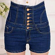 Damer Gade Mikroelastisk Jeans Bukser,Højtaljede Ensfarvet