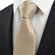 billige Tilbehør til herrer-Stripet-Slips(Sjampagne,Strikket)