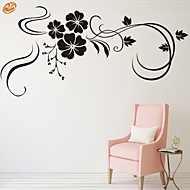 Χαμηλού Κόστους Flower Wall Stickers-Ρομάντζο Μόδα Άνθη Αυτοκολλητα ΤΟΙΧΟΥ Αεροπλάνα Αυτοκόλλητα Τοίχου Διακοσμητικά αυτοκόλλητα τοίχου, Βινύλιο Αρχική Διακόσμηση Wall Decal