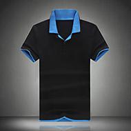 Veći konfekcijski brojevi Polo Muškarci Sport Vikend Rad Color block Slim Pamuk