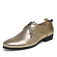 baratos Sapatos de Tamanho Pequeno-Homens Sapatos de vestir Couro Sintético / Materiais Customizados Primavera / Outono Conforto Oxfords Antiderrapante Prata / Dourado / Vinho / Casamento / Festas & Noite