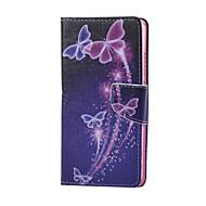 billiga Mobil cases & Skärmskydd-fodral Till Huawei Huawei Honor 5X Huawei-fodral Korthållare Plånbok med stativ Fodral Fjäril Hårt PU läder för Huawei Honor 5X Huawei
