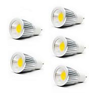 billige Spotlys med LED-5W 3000/6500 lm GU10 GU5.3(MR16) E26/E27 LED-spotpærer MR16 1 leds COB Varm hvit Kjølig hvit AC 85-265V