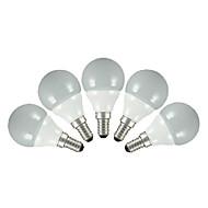 E14 E26/E27 LED-globepærer G60 5 leds SMD 2835 Varm hvit Kjølig hvit 200lm 3000~6000K AC 220-240V