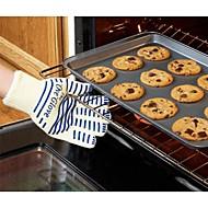 O serviço pesado luva de forno aderência lavável anti-derrapante silicone luva de cozinha