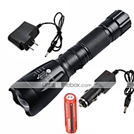 UltraFire LED Flashlights / Torch LED 2200/1000 lm 5 Mode Cree XM-L T6 with Battery and Chargers Adjustable Focus Rechargeable Waterproof