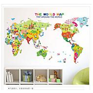 billiga Väggklistermärken-Landskap Mode Historia 3D Väggklistermärken Map Wall Stickers Dekrativa Väggstickers, Vinyl Hem-dekoration vägg~~POS=TRUNC Vägg