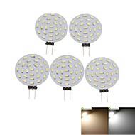 billige Spotlys med LED-SENCART 5pcs 2W 3000-3500/6000-6500lm G4 LED-spotpærer MR11 36 LED perler SMD 3014 Dekorativ Varm hvit / Kjølig hvit 12V / 5 stk. / RoHs