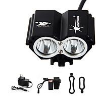 פנסי ראש פנסי אופניים פנס קדמי לאופניים פנס קדמי LED 5000 lm 4 מצב Cree XM-L T6 נטענת עמיד במים חירום ל רכיבה על אופניים Yes