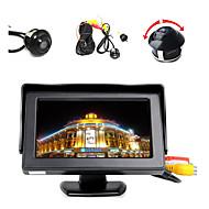 """4,3 """"barevný displej LCD monitor + 360 ° vpředu / boky / zadní reverzní parkovací kamera hd"""