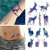 billiga Temporära tatueringar-1 Tatueringsklistermärken Djurserier VattentätDam Herr Vuxen Blixttatuering tillfälliga tatueringar