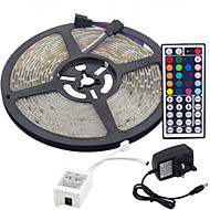 cheap LED Strip Lights-RGB Strip Lights Light Sets Flexible LED Light Strips LEDs RGB Remote Control / RC Cuttable Dimmable Color-Changing Self-adhesive Linkable