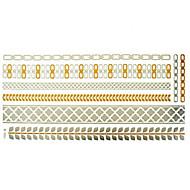 מדבקות קעקועים - תבנית - נשים/Girl/מבוגר/נוער - זהב - נייר - #(1) - #(23x15.5) - דפוס