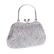 cheap Clutches & Evening Bags-Women's Bags Polyester Evening Bag Flower for Wedding Event/Party Formal Office & Career Winter Spring Summer Fall All Seasons Gray