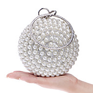 cheap Clutches & Evening Bags-Women's Bags Polyester Evening Bag Imitation Pearl Crystal/ Rhinestone for Wedding Event/Party Shopping Casual Formal Office & Career