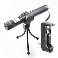 billige -lt-0674 låsbar muti-image justerbar kamp brennende grønn laserpeker (1 mW, 532nm, 1x18650, svart)