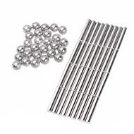 Magnetiske puslespil Superkraftige neodym-magneter Neodymmagnet 63 Stk. 6mm Legetøj Magnet Kugle Gave