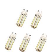 baratos Luzes LED de Dois Pinos-YWXLIGHT® 5pçs 6 W 600 lm G9 Lâmpadas Espiga T 104 Contas LED SMD 3014 Branco Quente / Branco Frio 220-240 V / 5 pçs