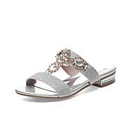 baratos Sapatos Femininos-Mulheres Sapatos Couro Sintético Primavera / Verão Salto Baixo Gliter com Brilho Prata / Dourado