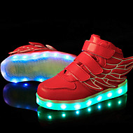 cheap Kids' High-Tops-Boys' / Girls' Shoes Synthetic Spring Comfort / Light Up Shoes Sneakers Lace-up / LED for Pink / Blue / Green