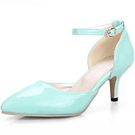 cheap Women's Shoes-Women's Shoes Patent Leather Leatherette Spring Summer D'Orsay & Two-Piece Stiletto Heel for Office & Career Dress Yellow Green Pink