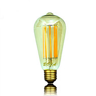 billige Globepærer med LED-b22 e26 e26 / e27 led globe pærer st64 8 cob 450-650lm varm hvit 2200k 2700k 3000k dimbar dekorativ ac 220-240 ac 110-130v
