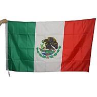 (旗竿なし)大メキシコフラグポリエステルメキシコ国家バナーの屋内屋外の家の装飾