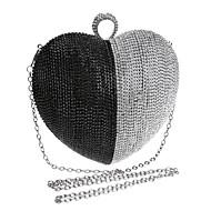 Női Táskák Minden évszak Poliészter Estélyi táska Strasszkő mert Esküvő Party Előírásos Fekete Ezüst