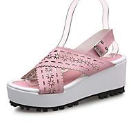 tanie Small Size Shoes-Damskie / Dla dziewczynek Derma Wiosna / Lato / Jesień Platforma / Koturn Klamra / Koronka / Kwiat Żółty / Niebieski / Różowy