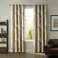 cheap Curtains Drapes-Curtains Drapes Living Room Stripe Curve Polyester Print