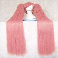 Naisten Synteettiset peruukit Suora Pinkki Costume Wig puku Peruukit