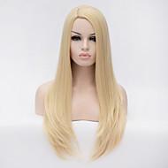 Syntetiske parykker Lige Blond Syntetisk hår Blond Paryk Dame Lang Lågløs