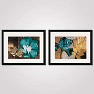 cheap Framed Arts-Framed Abstract Flowers Canvas Print 40x50cmx2pcs Modern Wall Art for Home Decoration Ready To Hang