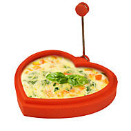 baratos Utensílios de Ovo-em forma de coração silicone anel forma de ovo e máquina para fazer crepes ovo frito fritura panqueca cozinhar molde (cor aleatória)